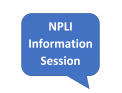 """A callout saying """"NPLI Information Session"""""""