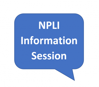 "A callout saying ""NPLI Information Session"""